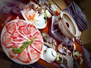 尾瀬の宿ふじや旅館 冬のお得なプラン 豚しゃぶしゃぶ鍋